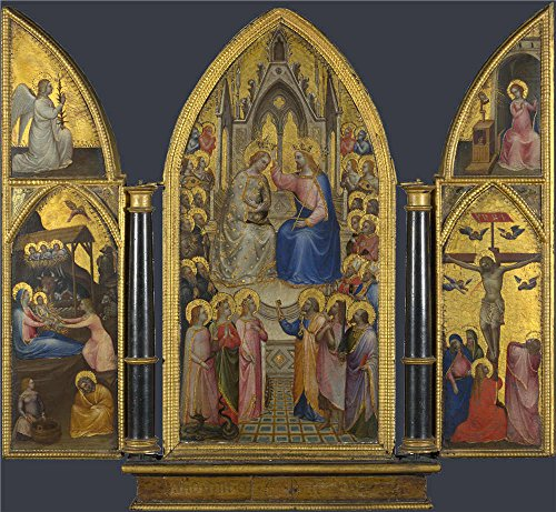 Perfect Effect Canvas ,the Amazing Art Decorative Prints On Canvas Of Oil Painting 'Giusto De' Menabuoi The Coronation Of The Virgin And Other Scenes ', 20 X 22 Inch / 51 X 55 Cm Is Best For Bedroom Gallery Art And Home Decoration And (Coupons For Party City 2016)