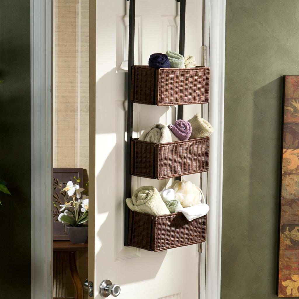 southern enterprises over the door 3 tier basket storage home storage baskets. Black Bedroom Furniture Sets. Home Design Ideas
