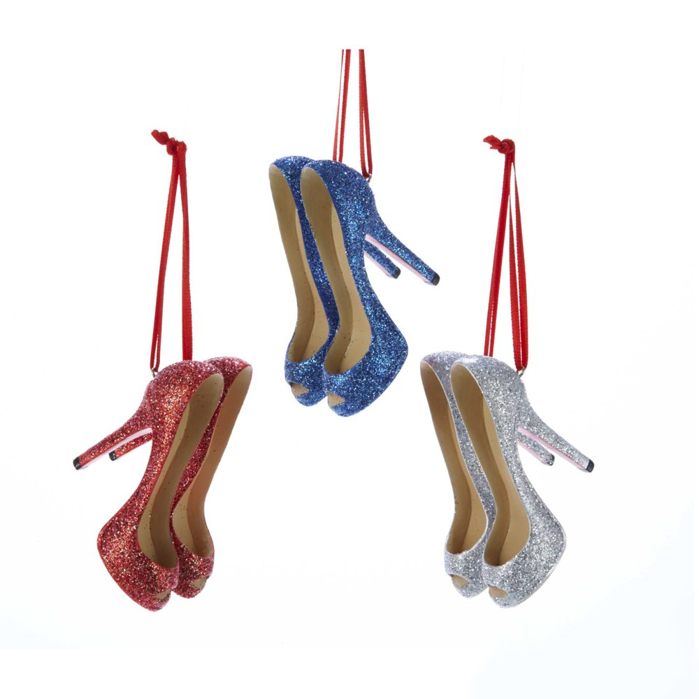 Set of 3 High Heel Shoe Ornaments