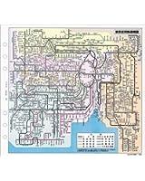 能率 システム手帳 リフィル 東京・大阪周辺鉄道路線図 A5514