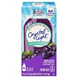 Crystal Light Drink Mix, Grape With Caffeine, On The Go Packets, 10 Count (Pack of 12 Boxes) (Tamaño: 0.11-Ounce Packets (Pack of 120))