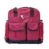 GenialES Multifuncional Mochila Maternal de Pa�al Biber�n para Carrito Bolso de Mano es Mummy Baby Handbag Backpack Gran Capacidad Rojo