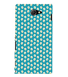 EPICCASE refreshing flowers Mobile Back Case Cover For Sony Xperia M2 (Designer Case)