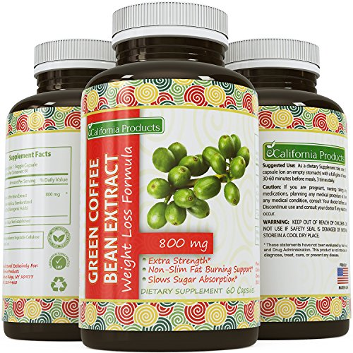 100% Pure Green Coffee Bean Extract ? Highest Quality 800 Mg ? Best Formula for Weight Loss on the Market - Women & Men ? Guaranteed By California Products