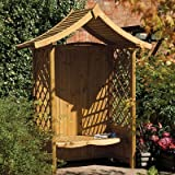 Tenbury Arbour Pressure Treated Wooden Timber Garden Seat