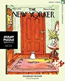 New Yorker Dog Behind the Door 1000 Pieces Jigsaw Puzzle