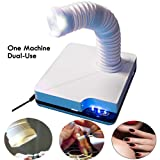 Nail Suction Dust Extractor Fan Collector Vacuum Cleaner Manicure Machine With 3 LED Light for Polish Acrylic Nails