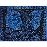 Blue Winged Dragon Single Tapestry