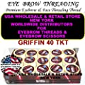 Best Cheap Deal for 1 Box of 15 Griffin 40 TKT Eyebrow Threads Threading Eyebrows & Face Coats Brand by Coats - Free 2 Day Shipping Available