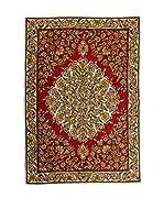 QURAMA Alfombra Chain Stitch Rojo/Multicolor 183 x 122 cm