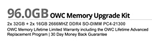 OWC 96GB (2 x 32GB + 2 x 16GB) 2666MHz DDR4 PC4-21300 SO-DIMM 260 Pin Memory Upgrade, (OWC2666DDR4S96S), for 2019 27 inch iMac (iMac19,1) and PC laptops (Color: (2 x 32GB + 2 x 16GB), Tamaño: 96 GB)