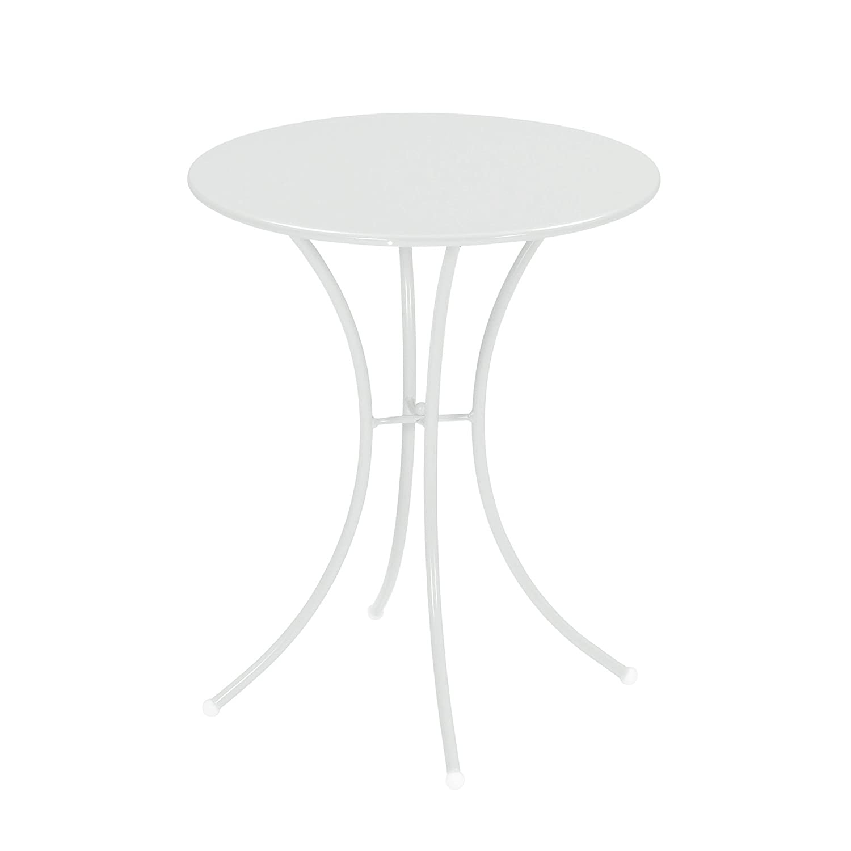 Emu 309052300 Pigalle Tisch 905, ø 60 cm, pulverbeschichteter Stahl, matt weiss