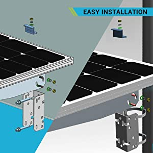 Renogy Wall Mount for 10W/20W/30W/40W/50W Solar Panels (Color: Mount, Tamaño: Wall Mount)
