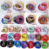 12 Girls High Quality Thick Endless Snag Free Hair Elastics Bobbles (Random)
