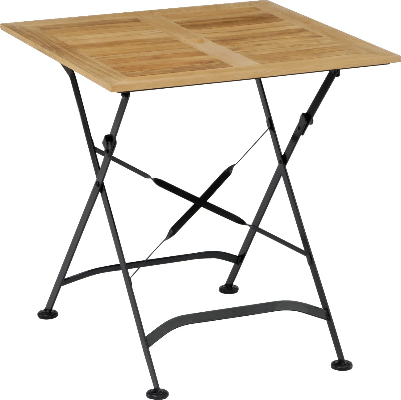 Stern 426715 Klapptisch Montana 70 x 70 cm, Gestell Eisen schwarz, Holz Teak massiv günstig bestellen