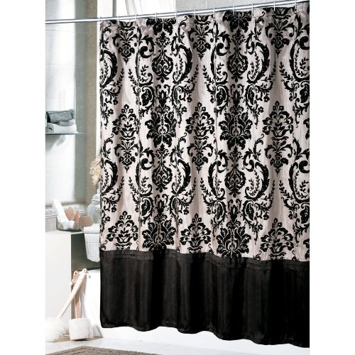 Victorian Classic Black White Toile Bathroom Shower