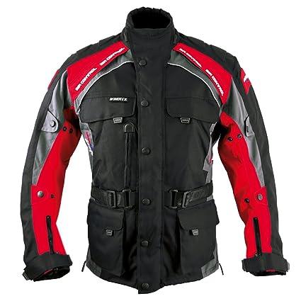 Roleff Racewear 7823 Blouson Moto Liverpool, Noir/Rouge, M