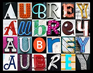 Amazon.com: AUBREY Personalized Name Poster Using Sign ...