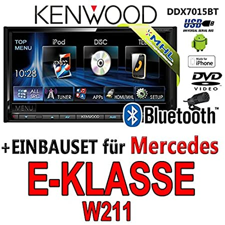 Mercedes classe e w211 kenwood-dDX7015BT 2DIN multimédia hDMI/mHL bluetooth uSB avec dVD