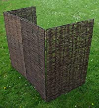 Garden papelera Wheelie selecciones de pantalla doble