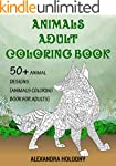 Animals Adult Coloring Book: 50+ Anim...