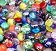 Miracolors - 2 Lb - Mixed Colors Glass Gems - Vase Fillers (12-19mm, Approx. ½\