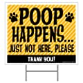 Imagine This Poop Happens Yard Sign, Yellow
