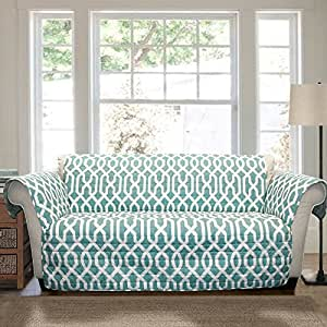 Buy Lush Decor Edward Trellis Furniture Protector Loveseat Blue Online At Low Prices In India