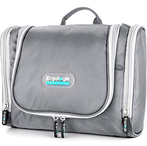 NEW ErgaLogik TraveLite Professional Travel Toiletry Bag (Silver) (Go Go Boots Australia)