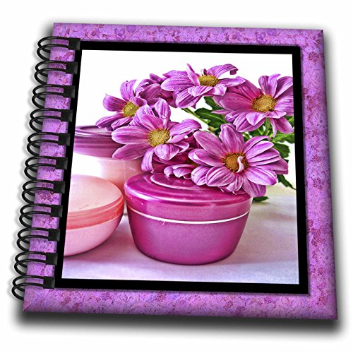 Susan Brown Designs General Themes - Flowers and Cream at the Spa - Mini Notepad 4 x 4 inch (db_41281_3)