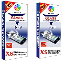 APS GOLD Pack Of 2 Combo Huawei Honor 5C (transparent)Tempered Glass Combo Pack Of 2 Screen Guard Screen Protector (HD Pro+ 2.5D Curved 0.3mm Thick Premium 9H) With Sim Adapter.