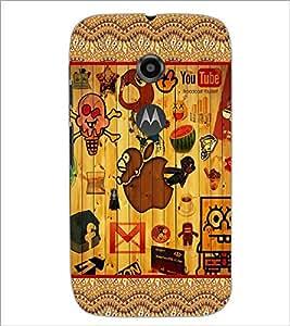 PrintDhaba Graffiti D-5684 Back Case Cover for MOTOROLA MOTO E2 (Multi-Coloured)