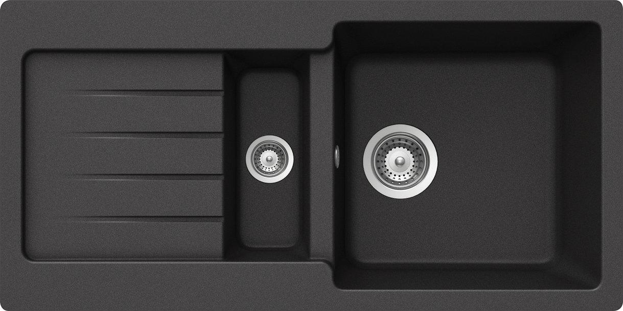 Schock Spüle Typos D150S Auflage, nero, TYPD150SAGNE  BaumarktKundenbewertung und Beschreibung