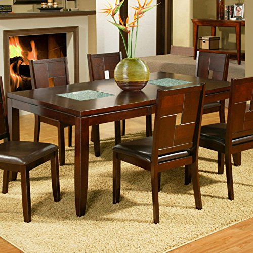 Alpine Furniture Lakeport Extension Dining Table - Espresso (Glass Extension Table compare prices)