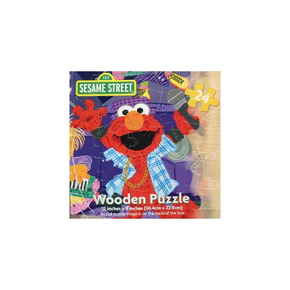 Wooden 24 Piece Sesame Street Puzzle (Elmo and Friends Band)