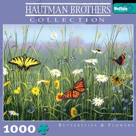 Cheap Buffalo Games Hautman Butterflies and Flowers Jigsaw Puzzle 1000pc (B000NC8H4G)