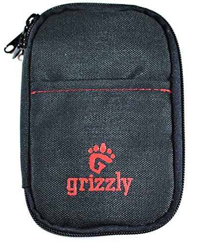 Grizzly SHILOH, Really Cool, Medium Photography, Video and Camera Utility Pouch for Memory Card SD & CF , Battery, USB, AA and AAA Batteries, Battery Packs. Two Sturdy Zippered Pockets & 12 Gear Compartments. (Cf Vanguard Sleeves compare prices)
