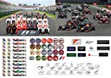 FORMULA ONE 2013 SEASON SIGNED BY ALL 22 DRIVERS A3 GLOSSY POSTER PHOTOGRAPH (F1 AUTOGRAPH) JENSON BUTTON - LEWIS HAMILTON - MARK WEBBER - FERNANDO ALONSO - PAUL DI RESTA PLUS ALL OTHER DRIVERS (ALL DRIVERS ALL CARS ALL HELMETS ALL TEAM LOGOS) F1