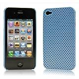 iPhone  4  ケース ハードプラスチック  ライトブルー 液晶保護フィルム   USB充電ケーブル付 送料無料