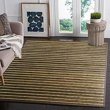 "Venice Natural Bamboo 5 X 8 (60""x96"") Floor Mat, Bamboo Area Rug Indoor Carpet, Rustic Grey Color Finish, Non Skid Backing, Floor Runner Mat Living room, Hallway, Kitchen, Office"