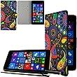 Ownstyle4you Kunstledertasche Etui H�lle Case Cover Tasche SIDE Creative f�r das Microsoft Lumia 535 inkl. Displayschutzfolie und Touch Pen