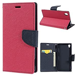 Online Street Luxury Wallet Style Flip Cover For MotorolaMoto G3 - ( BRIGHT PINK )