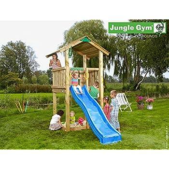 Spielturm Jungle Casa Set mit 2,4 m Rutsche Sandkasten Kletterturm – Jungle Gym (inkl. Holzpaket) bestellen