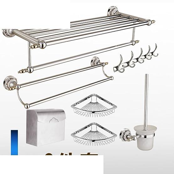 stile europeo asciugamani/Ottone massiccio portasciugamani/Salviette/Parete d'argento/Bagno accessori hardware suite bathroom-L