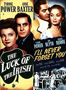 The Luck of the Irish DVD (1948) Tyrone Power- Anne Baxter / I'll Never Forget You (1951) Tyrone Power - Ann Blythe / Double Feature Movie