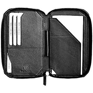 Leather passport holder cover case wallet premium best for Best travel document wallet