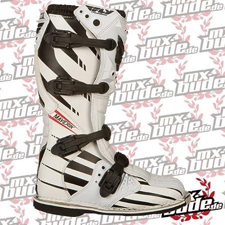 Fly 2014 Bottes De Motocross - Maverik Blanc/Schwarz - blanc, 43-44