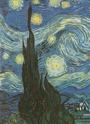 61WwkAiEh7L. SL500  Van Goghs Starry Night Notebook