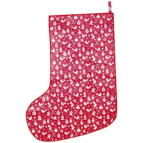 JoJo Maman Bebe Giant Christmas Stocking, Cream Bauble - 1