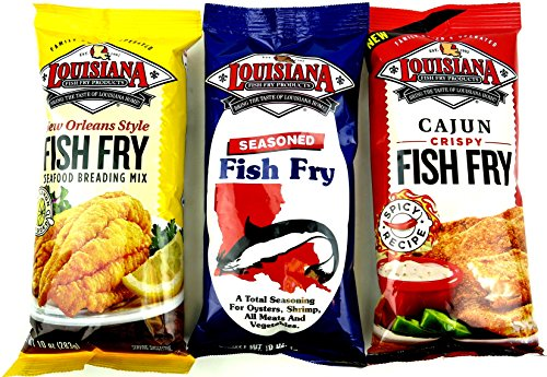 louisiana fish fry breading mixes 3 flavor variety one 10 ForHow To Season Fish For Frying